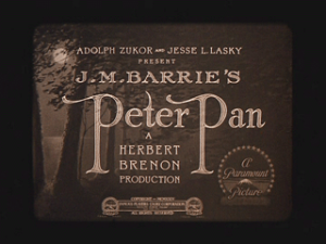 peter pan1924dvd