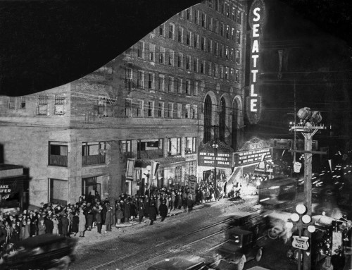 Opening night at The Seattle, later The Paramount, 1928 photo credit here